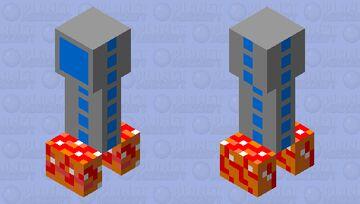 Rocket creeper Minecraft Mob Skin