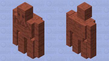 clay GOLEM (hebrew myth) for the mythical mob skin contest Minecraft Mob Skin