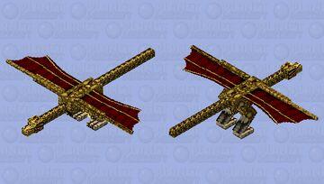 Bronze Dragon Minecraft Mob Skin