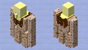 Wally the Waffle Golem Minecraft Mob Skin