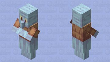 Squidhhrng - Spongebob Squarepants - Squidward - Villager Redo - poppy-reel Minecraft Mob Skin
