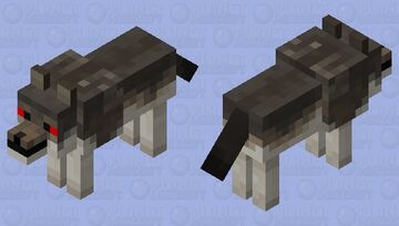 Angry Wolf Minecraft Mob Skin