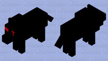 SCP-023 (Black Shuck) Minecraft Mob Skin