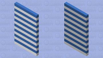 Blue Stripes Cape Minecraft Mob Skin