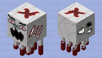 Bloody Ghast HD model Minecraft Mob Skin