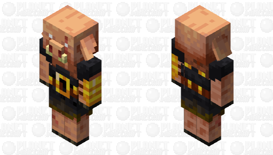 Better Piglin brute (look at the ear) Minecraft Skin