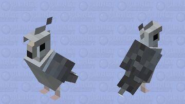 White Faced Pearl Cockatiel Minecraft Mob Skin
