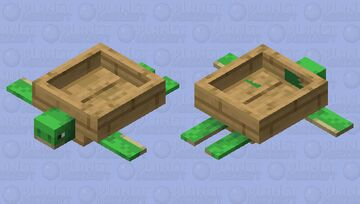 Sea Turtle Boat Minecraft Mob Skin