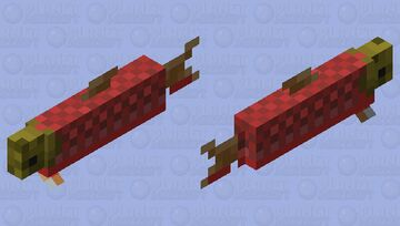 Red belly river salmon Minecraft Mob Skin