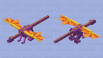 Spyro (Adult) Minecraft Mob Skin