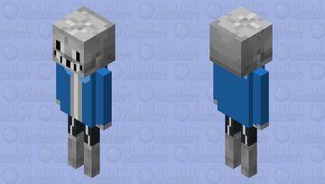 Pacifist Sans (Undertale) - Skeleton Edition [Pop Reel!] Minecraft Mob Skin