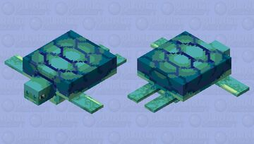 Turtles in the blue sea || With with Super HD version in the description Minecraft Mob Skin