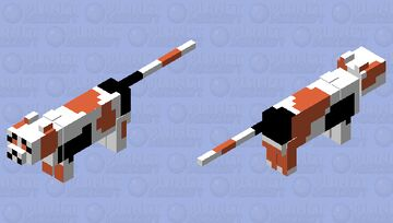 Whiskers the calico cat Minecraft Mob Skin