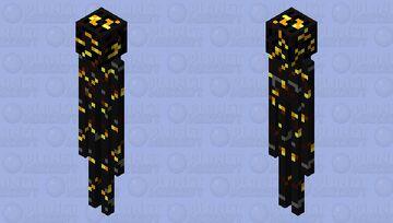 Gilded Enderman Minecraft Mob Skin
