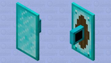 Diamond Plated Shield +8 Gemstone Variants Minecraft Mob Skin