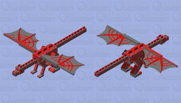 The Dragon of Fire and Ash Minecraft Mob Skin