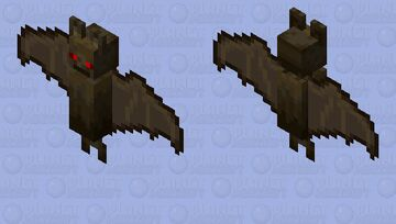 red bat Minecraft Mob Skin