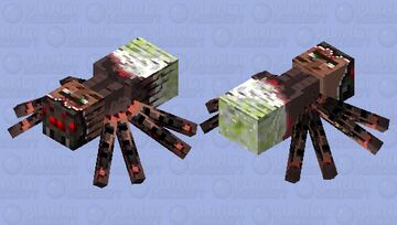 parasitic spider wants to get out Minecraft Mob Skin