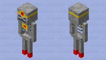 Emperor Skeleton Minecraft Mob Skin