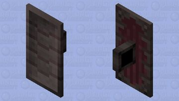Netherite Plated Shield +1 Wood Variant Minecraft Mob Skin
