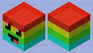 Rainbow Derp Minecraft Mob Skin