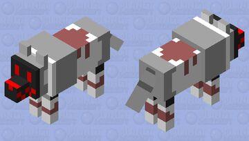 Illegal Wolf Protogen Minecraft Mob Skin