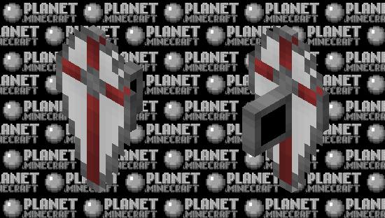 Red Cross Teardrop Shield Minecraft Skin