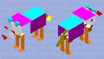 ghost wolf multi color Minecraft Mob Skin