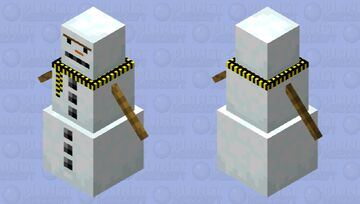 An Angry Snowman Minecraft Mob Skin