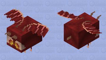 Bee Dragon, HD 2X version - why is this on popreel :o Minecraft Mob Skin