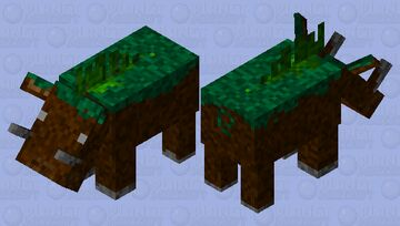 grass hoglin Minecraft Mob Skin