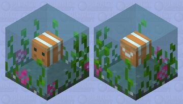 A Happy Fish in Water Minecraft Mob Skin