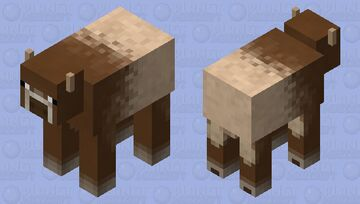 Better Cow (I'm Trying to Make the Animals Look More Natural) Minecraft Mob Skin