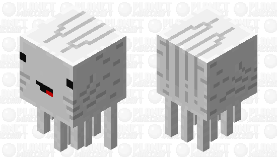 Platabush ghast Minecraft Skin