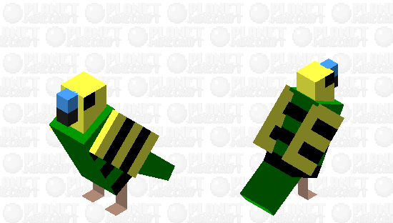 Male Green Budgie Minecraft Skin