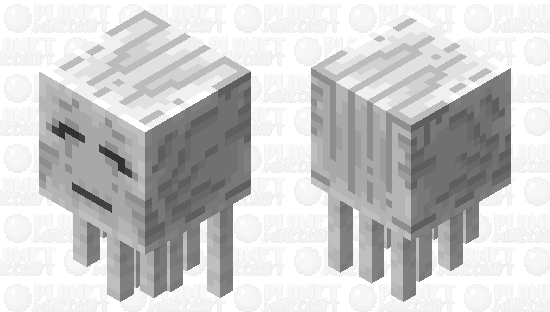 improved ghast Minecraft Skin