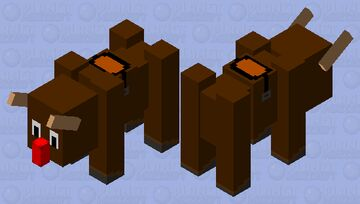 Rudolph Ravager (just in time for Xmas) Minecraft Mob Skin
