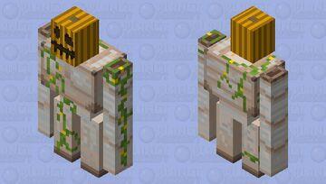 pumpkin iron golem final version Minecraft Mob Skin