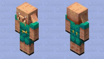 Warped Forest Camouflage Piglin Minecraft Mob Skin