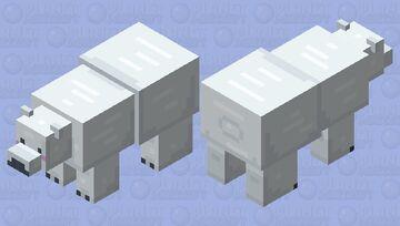 its a cute polar bear! Minecraft Mob Skin