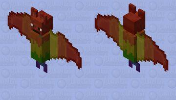rainbow bat Minecraft Mob Skin