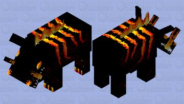 Lava hoglin Minecraft Mob Skin