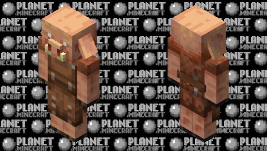 Leatherworker Piglin Minecraft Skin