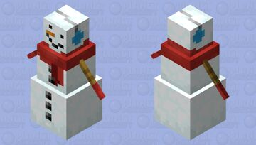 Winter Snowgolem Minecraft Mob Skin