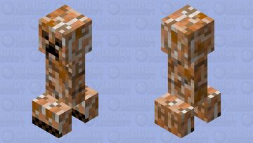 orange creeper Minecraft Mob Skin