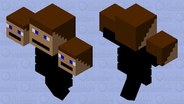 the boy who turned into a wither Minecraft Mob Skin