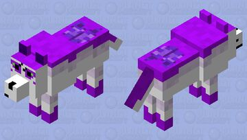 Star the winged wolf Minecraft Mob Skin