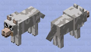 The last thing I'm posting before I'm on hiatus refract wolf Minecraft Mob Skin