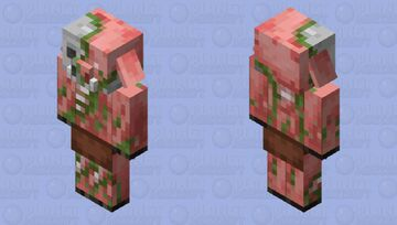 Zombified Piglin with Two Ears Minecraft Mob Skin