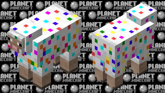 Confetti Sheep Minecraft Skin
